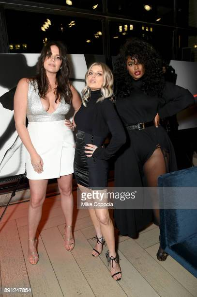 Candice Huffine Fergie and Precious Lee attend the CR Fashion Book Celebrating launch of CR Girls 2018 with Technogym at Spring Place on December 12...