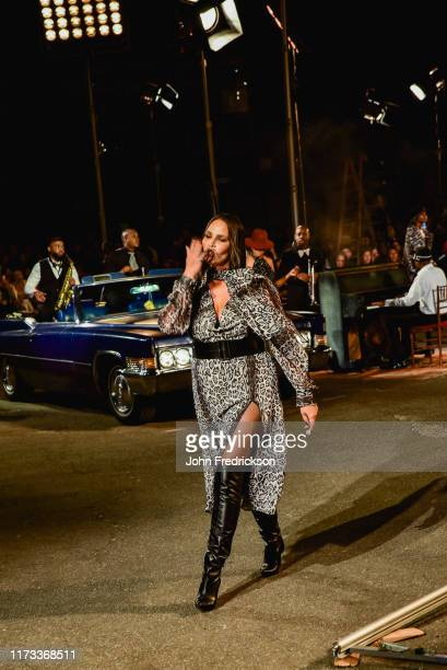 Candice Huffine walks the runway at the Tommy X Zendaya runway show at The Apollo Theater on September 08 2019 in New York City