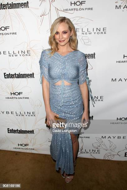 Candice King attends Entertainment Weekly's Screen Actors Guild Award Nominees Celebration sponsored by Maybelline New York at Chateau Marmont on...