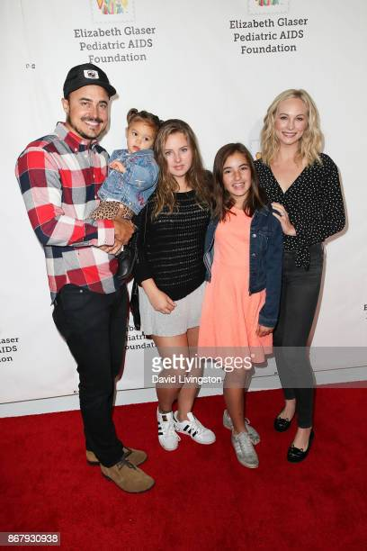 Candice King Joe King and family attend the Elizabeth Glaser Pediatric AIDS Foundation's 28th Annual A Time For Heroes Family Festival at Smashbox...