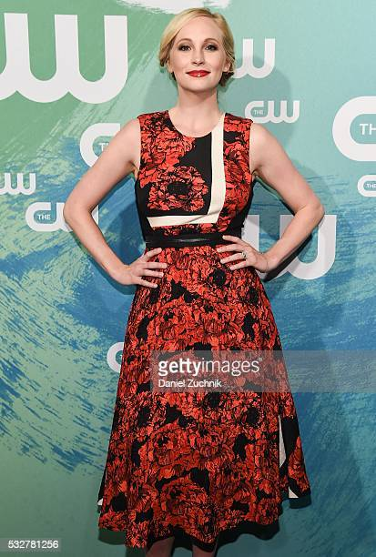 Candice King of the series 'The Vampire Diaries' attends the The CW Network's 2016 New York Upfront at The London Hotel on May 19 2016 in New York...