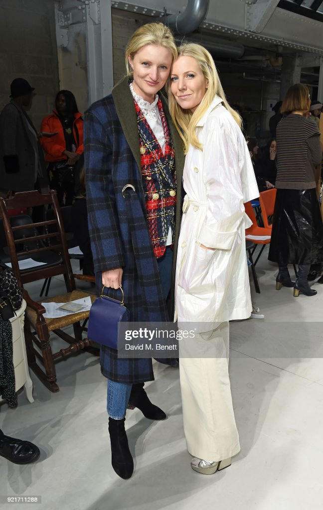 Candice Lake and Alice Naylor-Leyland attend the Isa Arfen show during London Fashion Week February 2018 at Eccleston Place on February 20, 2018 in London, England.