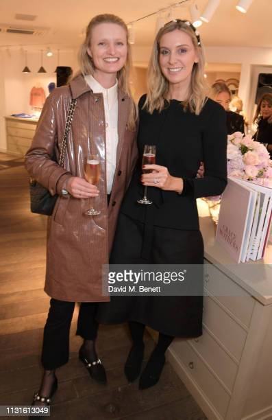 Candice Lake and Georgie Abay attend a party celebrating Bonpoint x The Grace Tales at the Bonpoint Marylebone store on March 19 2019 in London...