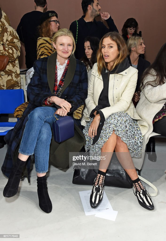 Candice Lake and Quentin Jones attend the Isa Arfen show during London Fashion Week February 2018 at Eccleston Place on February 20, 2018 in London, England.
