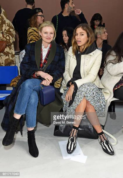 Candice Lake and Quentin Jones attend the Isa Arfen show during London Fashion Week February 2018 at Eccleston Place on February 20 2018 in London...