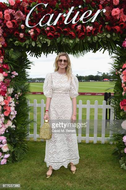 Candice Lake attends the Cartier Queen's Cup Polo at Guards Polo Club on June 17 2018 in Egham England