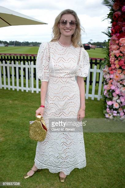 Candice Lake attends the Cartier Queen's Cup Polo Final at Guards Polo Club on June 17 2018 in Egham England