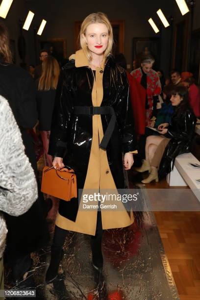 Candice Lake attends the Erdem show during London Fashion Week February 2020 on February 17 2020 in London England