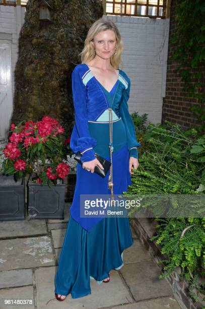 Candice Lake attends the NETAPORTER dinner hosted by Alison Loehnis to celebrate the launch of Rosie Assoulin's exclusive collection on May 22 2018...