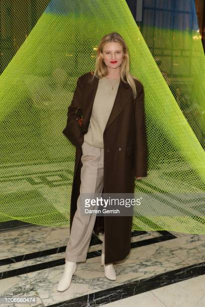 Candice Lake attends the Roksanda show during London Fashion Week February 2020 on February 16 2020 in London England