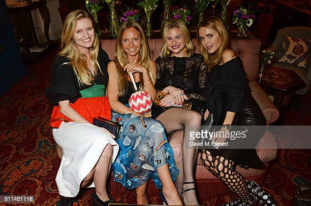Candice Lake Martha Ward Pandora Sykes and Pernille Teisbaek attend a private dinner hosted by Matchesfashioncom and Isa Arfen to celebrate London...