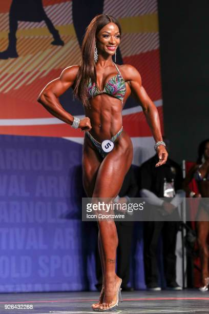 Candice LewisCarter competes in Figure International as part of the Arnold Sports Festival on March 2 at the Greater Columbus Convention Center in...