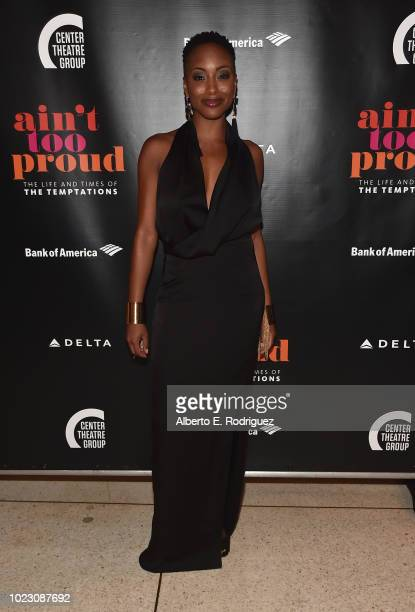 Candice Marie Woods attends the after party for the Opening Night of Ain't Too Proud The Life And Times Of The Temptations at the Dorothy Chandler...