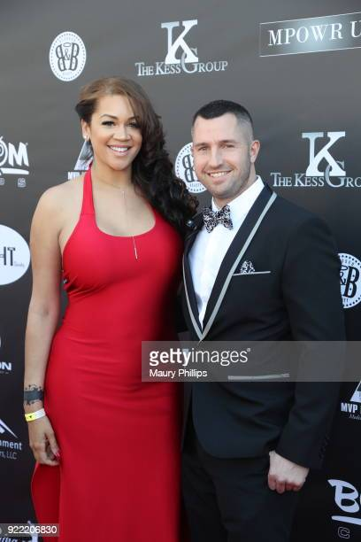 Candice McCaney and Michael Max attend Couture Against Cancer hosted by Andre Drummond and Angel Brinks on February 17 2018 in Los Angeles California