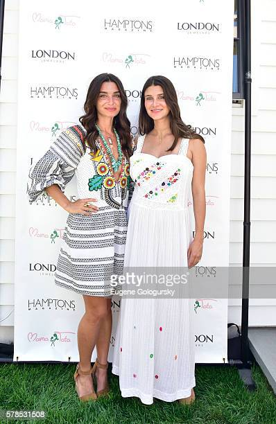 Candice Miller and Jenna Crespi attend the Hamptons Magazine London Jewelers Host a Luxury Shopping Afternoon on July 21 2016 in Wainscott New York