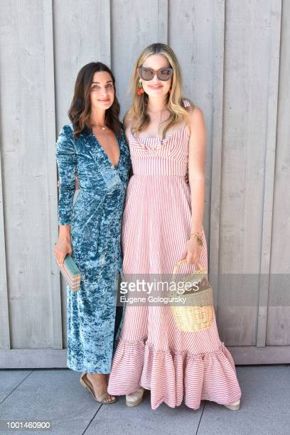 Candice Miller and Sarah Bray attend the Hamptons Magazine London Jewelers Host A Luxury Shopping Afternoon at Topping Rose House on July 18 2018 in...