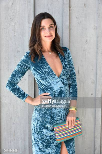 Candice Miller attends the Hamptons Magazine London Jewelers Host A Luxury Shopping Afternoon at Topping Rose House on July 18 2018 in Bridgehampton...