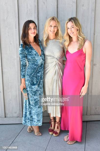 Candice Miller Kathrine Holmgren and Lesley Vecsler attend the Hamptons Magazine London Jewelers Host A Luxury Shopping Afternoon at Topping Rose...