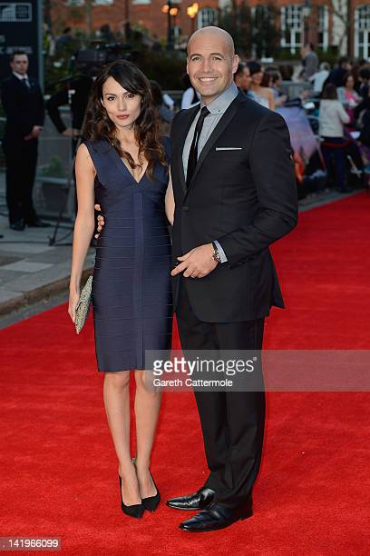 Candice Neil and actor Billy Zane attend the 'Titanic 3D' World Premeire at the Royal Albert Hall on March 27 2012 in London England