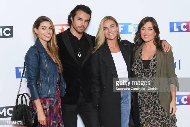 Candice Pascal Anthony Colette Ines Vandamme and Elsa Esnoult attends the Groupe TF1 Photocall At Palais De Tokyo on September 09 2019 in Paris France