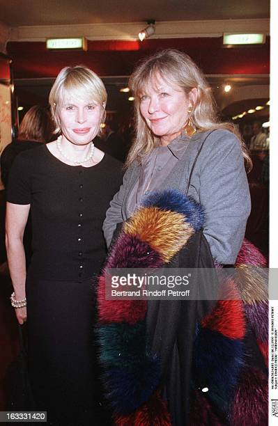 Candice Patou and Marina Vlady at thePreview Of La Dame Aux Camelias In Paris