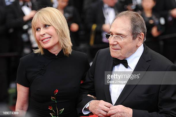 Candice Patou and Robert Hossein attend 'Inside Llewyn Davis' Premiere during the 66th Annual Cannes Film Festival at Palais des Festivals on May 19...