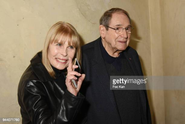 """Candice Patou and Robert Hossein attend the """"Occupe Toi D'Amelie"""" Screening Tribute to Danielle Darieux at the Max Linder on April 9, 2018 in Paris,..."""