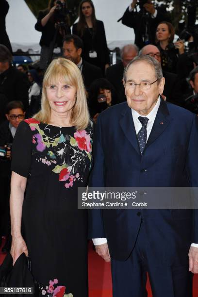 """Candice Patou and Robert Hossein attend the screening of """"Burning"""" during the 71st annual Cannes Film Festival at Palais des Festivals on May 16,..."""