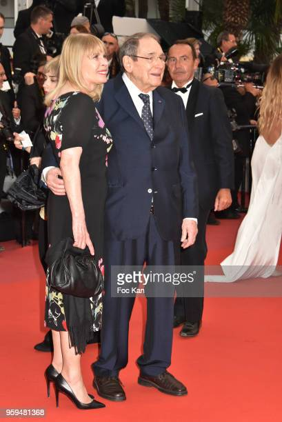 Candice Patou and Robert Hossein attend the screening of 'Burning' during the 71st annual Cannes Film Festival at Palais des Festivals on May 16 2018...