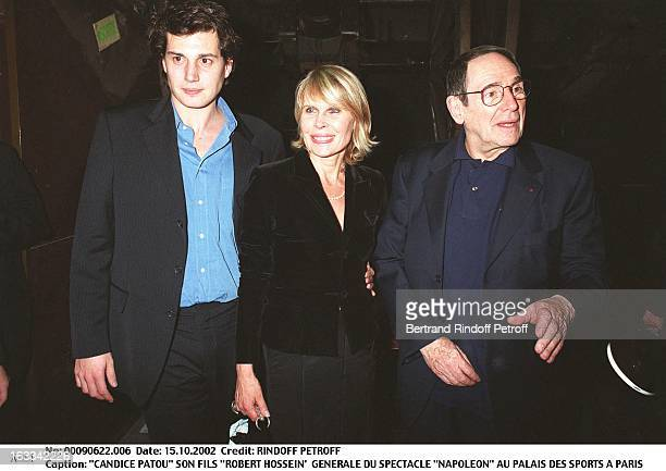 Candice Patou her son Robert Hossein' Preview of the show Napoleon at Palais des Sports in Paris