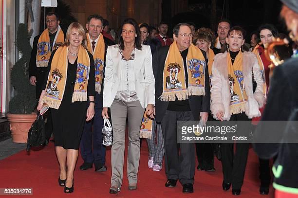 Candice Patou HSH Princess Stephanie of Monaco Robert Hossein and AnnElizabeth De Massy at the 33th MonteCarlo Circus Festival