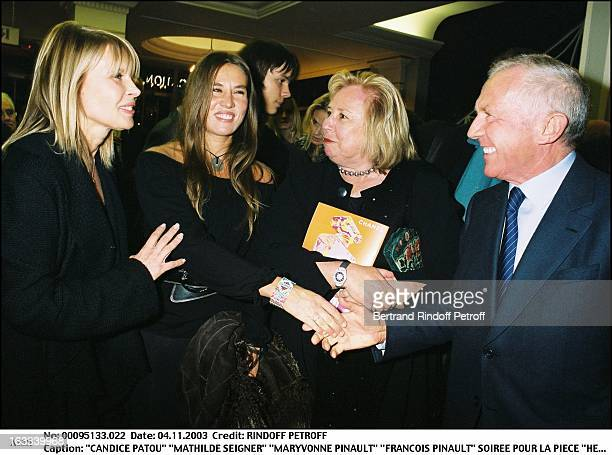 Candice Patou Mathilde Seigner Maryvonne Pinault Francois Pinault party for the play Hedda Gabler at the Marigny theater