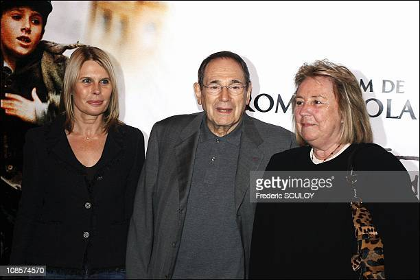 Candice Patou Robert Hossein and Mrs Francoi Pinaut in Paris France on October 17th 2005