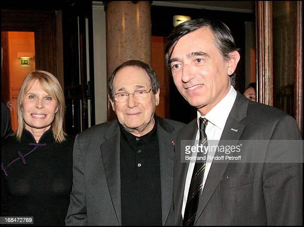 Candice Patou Robert Hossein and Philippe Douste Blazy at Pascal Renouard De Valliere Appointed Member Of De Chevalier De L'Orde National Du Merite...
