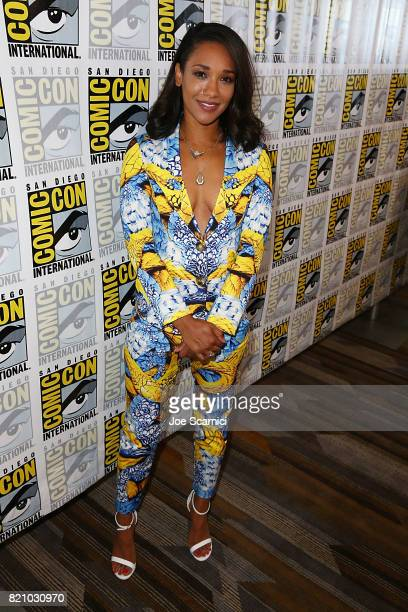 Candice Patton arrives at The Flash press line at ComicCon International 2017 on July 22 2017 in San Diego California