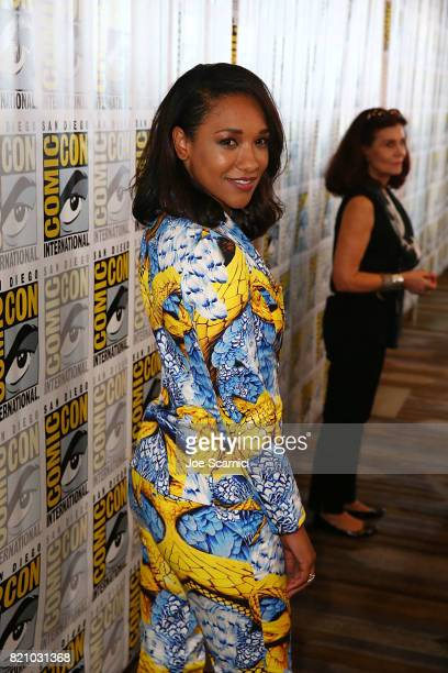 Candice Patton arrives at 'The Flash' press line at ComicCon International 2017 on July 22 2017 in San Diego California