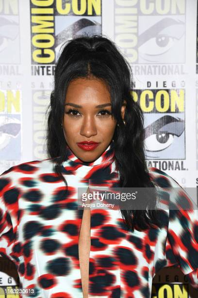 Candice Patton attends 2019 ComicCon International Day 3 The Flash press line on July 20 2019 in San Diego California