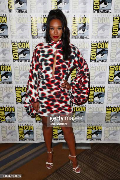 Candice Patton attends The Flash press line during 2019 ComicCon International on July 20 2019 in San Diego California