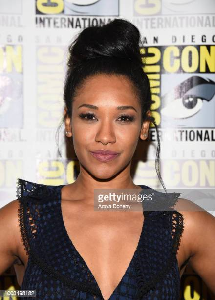 Candice Patton attends the press line for The Flash during ComicCon International 2018 at Hilton Bayfront on July 21 2018 in San Diego California