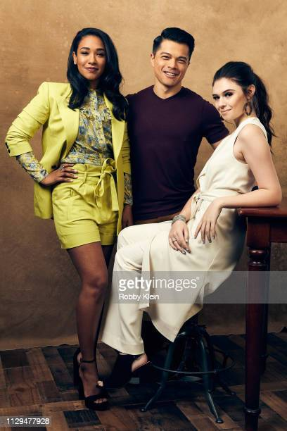 Candice Patton Vincent Rodriguez III and Nicole Maines pose for a portrait at the 2019 SXSW Film Festival Portrait Studio on March 9 2019 in Austin...