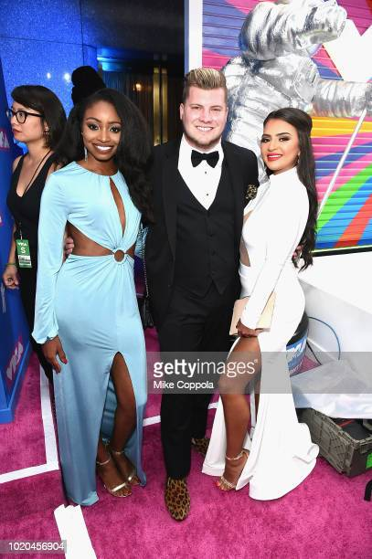Candice Rice Codi Butts and Nilsa Prowant of Floribama Shore attend the 2018 MTV Video Music Awards at Radio City Music Hall on August 20 2018 in New...