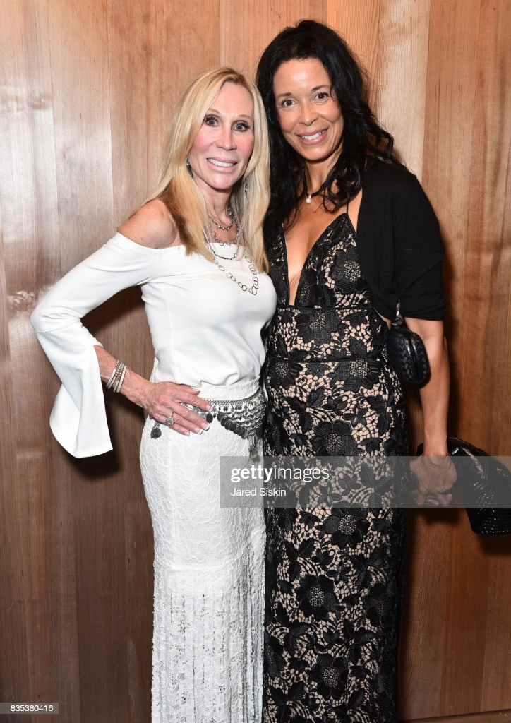 Candice Stark and Kim Heirston-Evans attend ARTrageous Gala + Art Auction benefitting Hour Children at a Private Residence on August 18, 2017 in Southampton, New York.