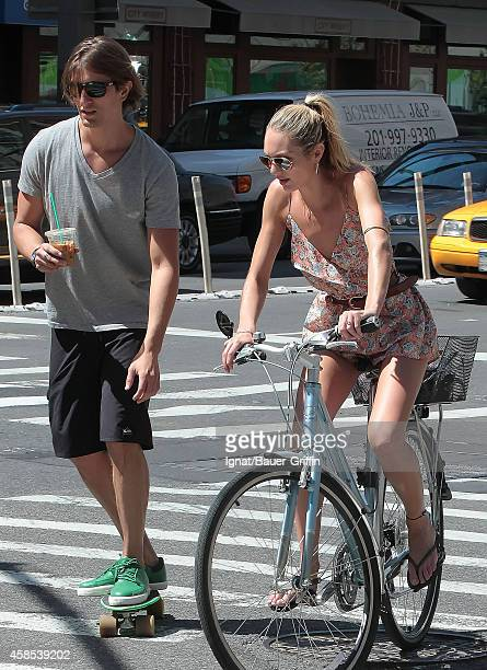 Candice Swanepoel and her boyfriend Hermann Nicoli are seen on May 15, 2012 in New York City.