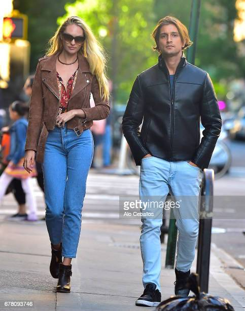Candice Swanepoel and Hermann Nicoli are in the East Village on May 3 2017 in New York City
