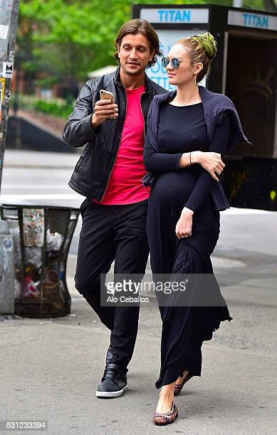 Candice Swanepoel and Hermann Nicoli are seen in Soho on May 13 2016 in New York City