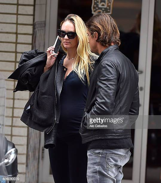 Candice Swanepoel and Hermann Nicoli are seen in the Upper East Side on April 29 2016 in New York City