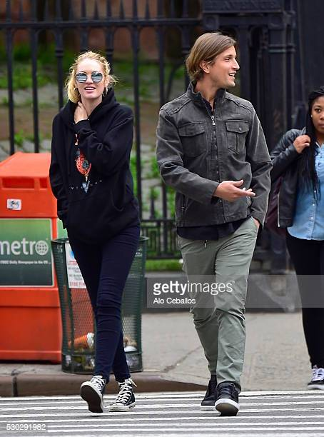 Candice Swanepoel and Hermann Nicoli are seen on May 10, 2016 in New York City.