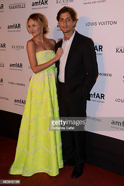 Candice Swanepoel and Hermann Nicoli on April 4 2014 in Sao Paulo Brazil