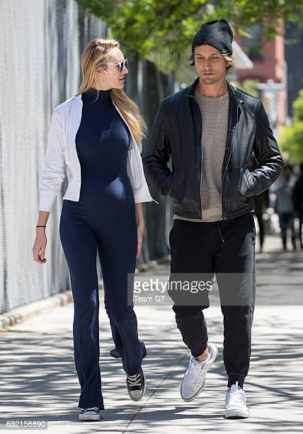 Candice Swanepoel and Hermann Nicoli seen on May 18 2016 in New York City