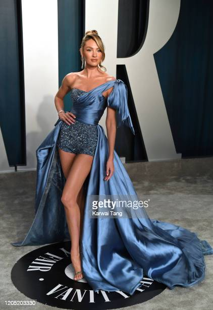 Candice Swanepoel arriving for the 2020 Vanity Fair Oscar Party Hosted By Radhika Jones, at the Wallis Annenberg Center for the Performing Arts on...